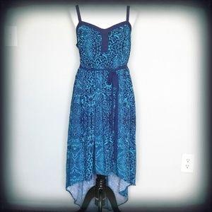 Torrid High/Low Boho Blue Dress Size 1 NWOT